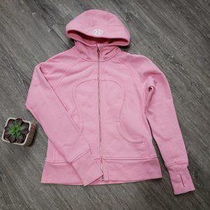 Lululemon Scuba Hoodie Stretch Pink Shell Sz 10